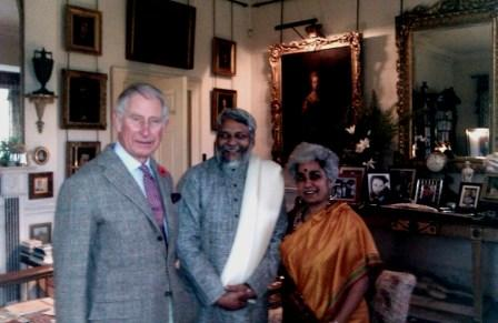 At Highgrove with HRH Prince Charles, TBS Chairman, Rajendra Singh and TFP Director, Minni Jain