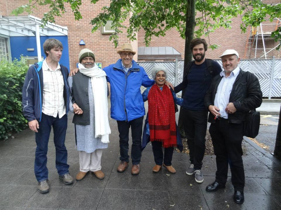 The Flow Partnership Team outside Newcastle University. From left to right: Marc Stutter (JHI, Scotland), Rajendra Singh (TBS, India),  Philip Franses , Minni Jain ,  Richard Widows and Paul Quinn (Newcastle University)