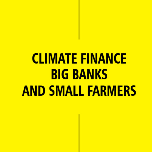Climate Finance, Big Banks and Small Farmers   by Chetna Joshi  Post Paris, how much of the new financial resources are going to fund the actual solutions able to bring in resilience in agriculture beneficial for the smallholder farming communities?  Click the image to download the PDF