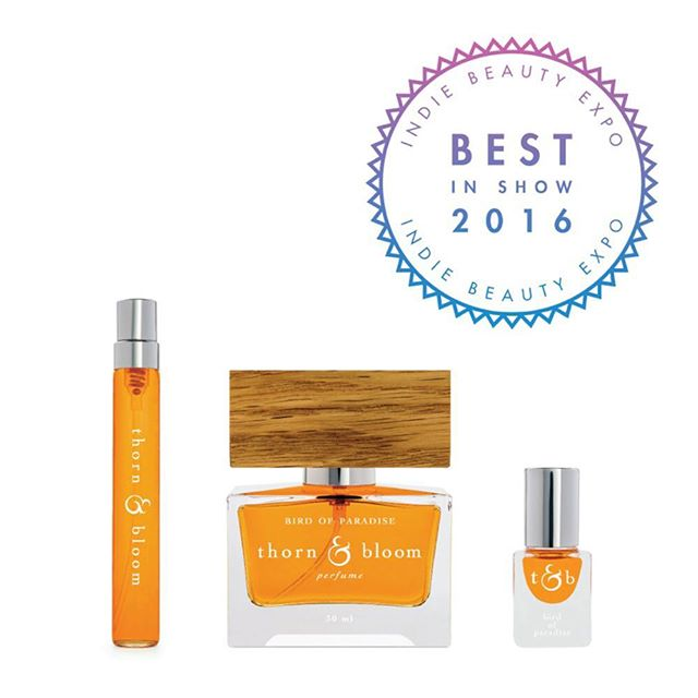 So thrilled to win BEST FRAGRANCE @indiebeautyexpo 's BEST OF SHOW 2016! We were among some fantastic finalists picked from NYC and LA shows... cheers to all the independent makers & shakers pioneering new trends in the beauty world!  #indiebeautyexpo #indiebeauty #naturalbeauty #organicbeauty #greenbeauty #indieperfume #artisanperfume #naturalperfume #organicperfume #botanicalperfume #realperfume #authenticperfume