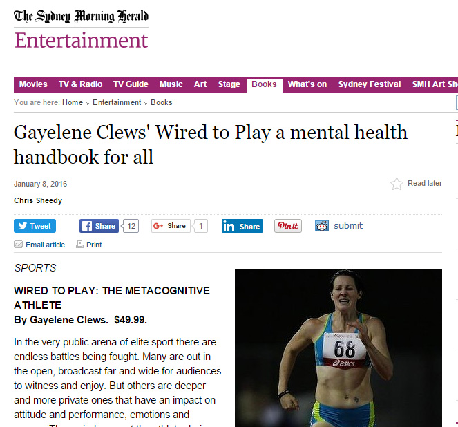 "gayelene clews' wired to play a mental health handbook for all""  >"