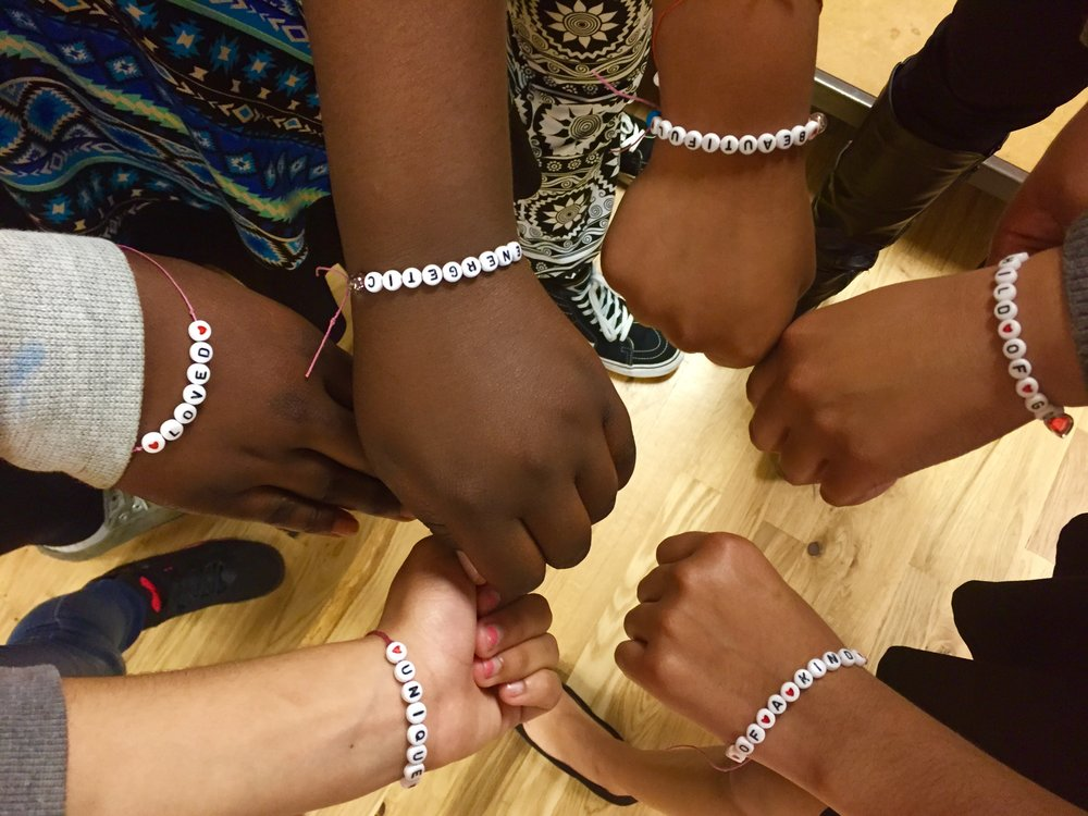 Girls Night - BCM invited mothers and daughters to engage in a bonding activity by making bracelets together.