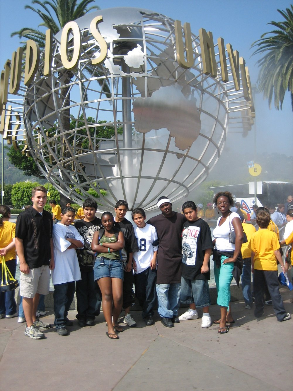 Outting - Here Jennifer and a large of students take a picture during a BCM outing to Universal Studios. (Picture taken in 2006)