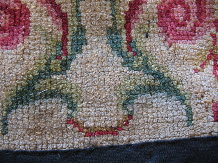 French Needlepoint Damage Repaired