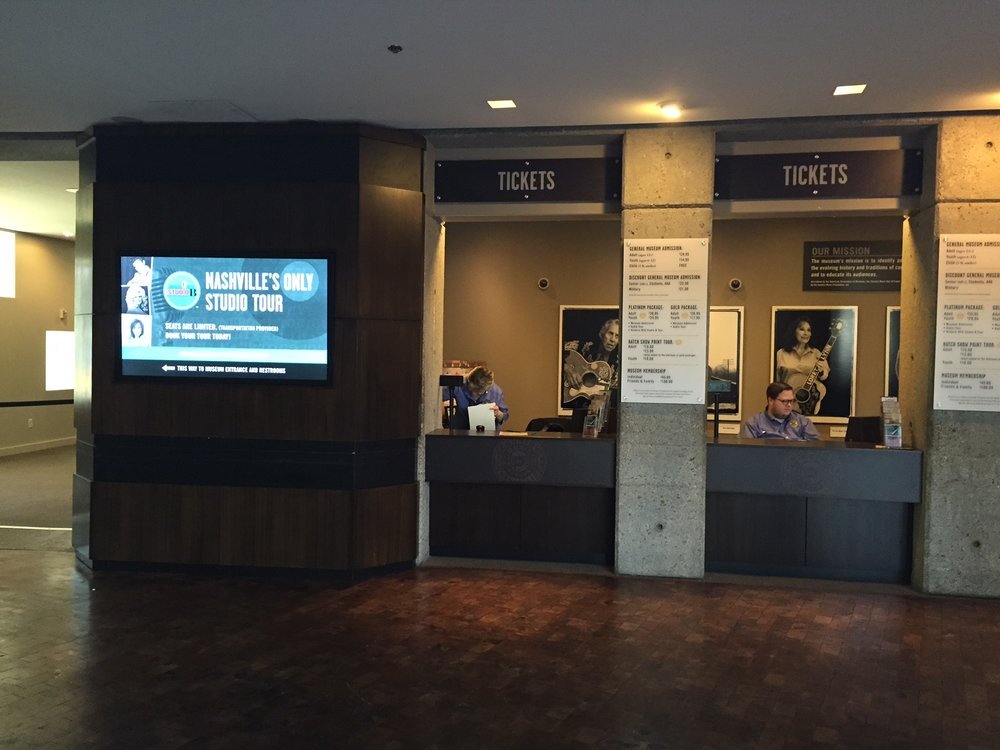 Country Music Hall of Fame Ticketing Booth Reno