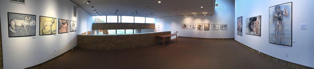 Installation view Schaeffer Gallery Gustavus Adolphus College