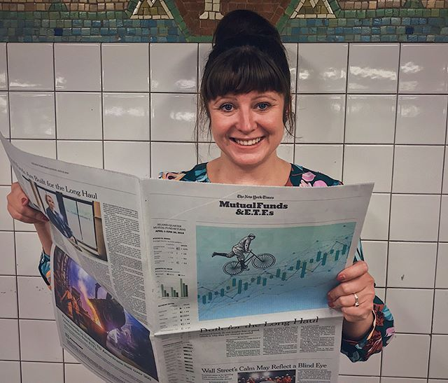 Excited to be featured on the cover of today's Business Review of the @nytimes // The balanced fund is the vintage bicycle of investing // Many thanks AD Minh Uong