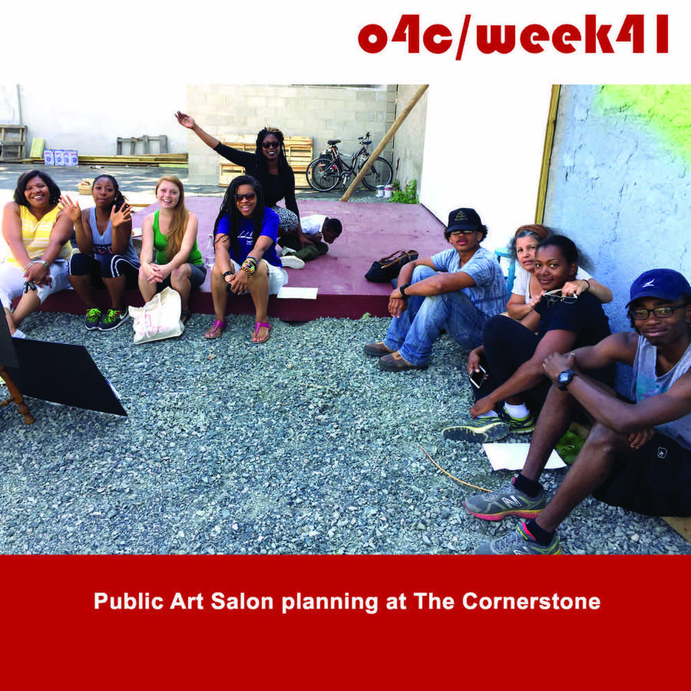 Cornerstone meeting planning Public Art Salon 3!