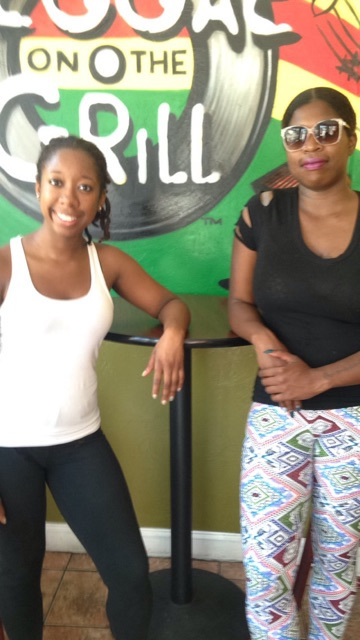 "Cadieja on the left Mechelle in the right at ""Reggae on the Grill"""