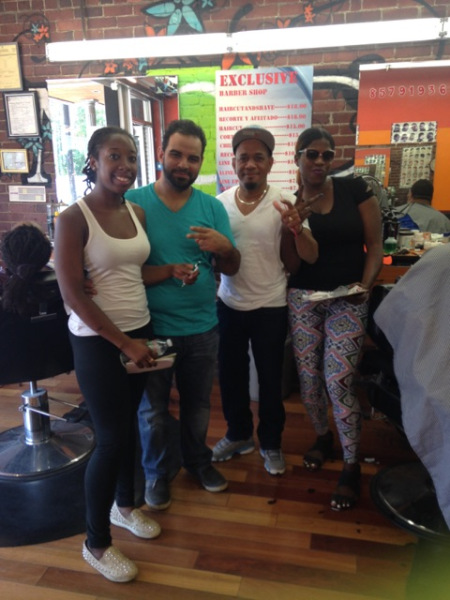 "The crew at ""Exclusive"" barbershop"