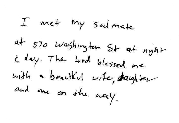 Kenneth writes of love found in an everyday neighborhood place