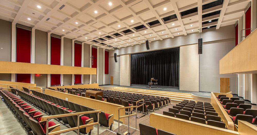 """<div align=""""left"""">Fine Arts Center & Fieldhouse, Whitinsville Christian School</div>"""