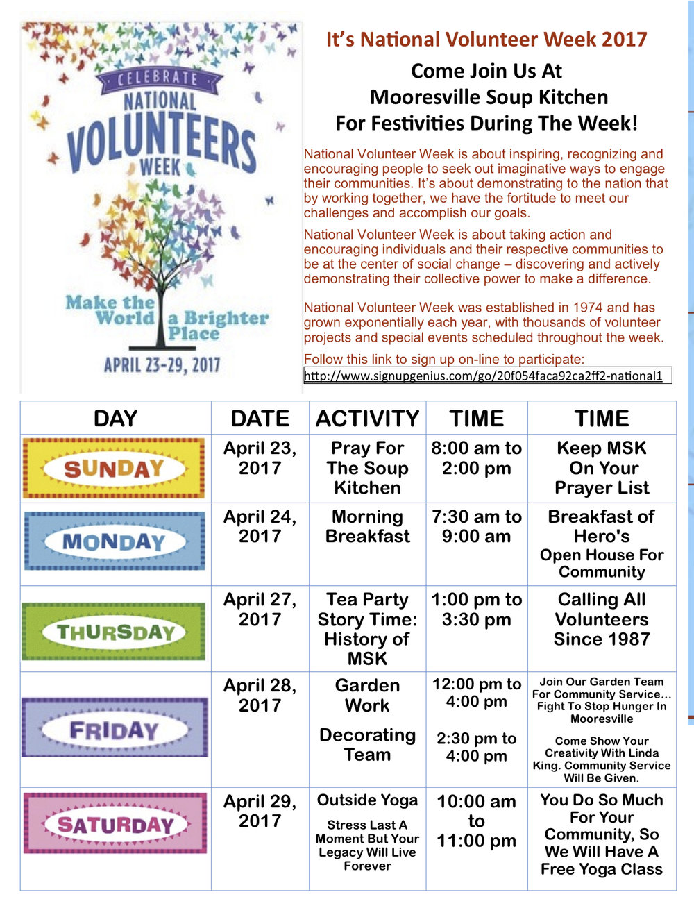 National Volunteer Week is Coming Up! — Mooresville Soup Kitchen