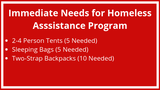 Copy of · Shower%2FLaundry · Non-Perishable Groceries · Assistance creating Individualized Housing Plan · Tents%2FSleeping Bags [As Available] · Emergency Boxes · Community Resource Referrals · Clothing Necessities [As A.png