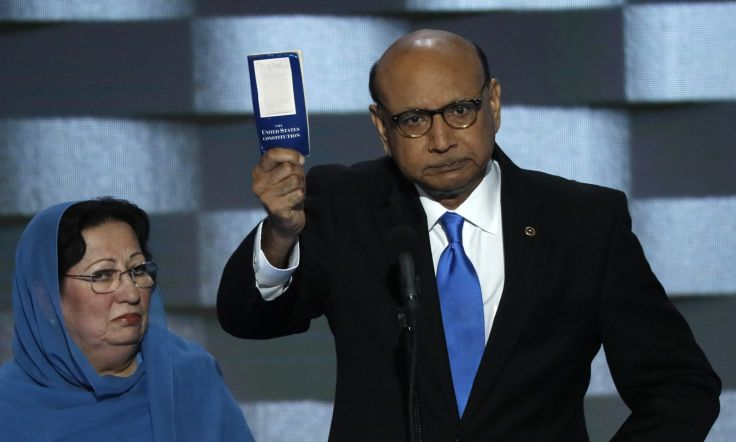 Khizr Khan's defense of his son, military hero Humayan, was a shining moment of the DNC