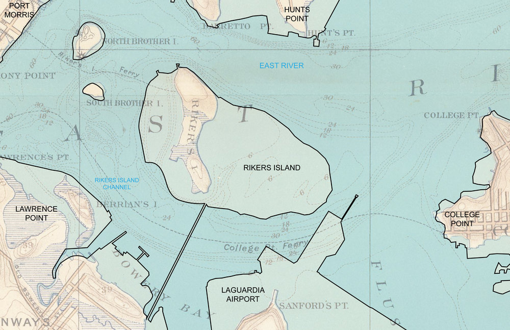 Riker's Island has been built by over 100 years of infill, making construction on the island difficult