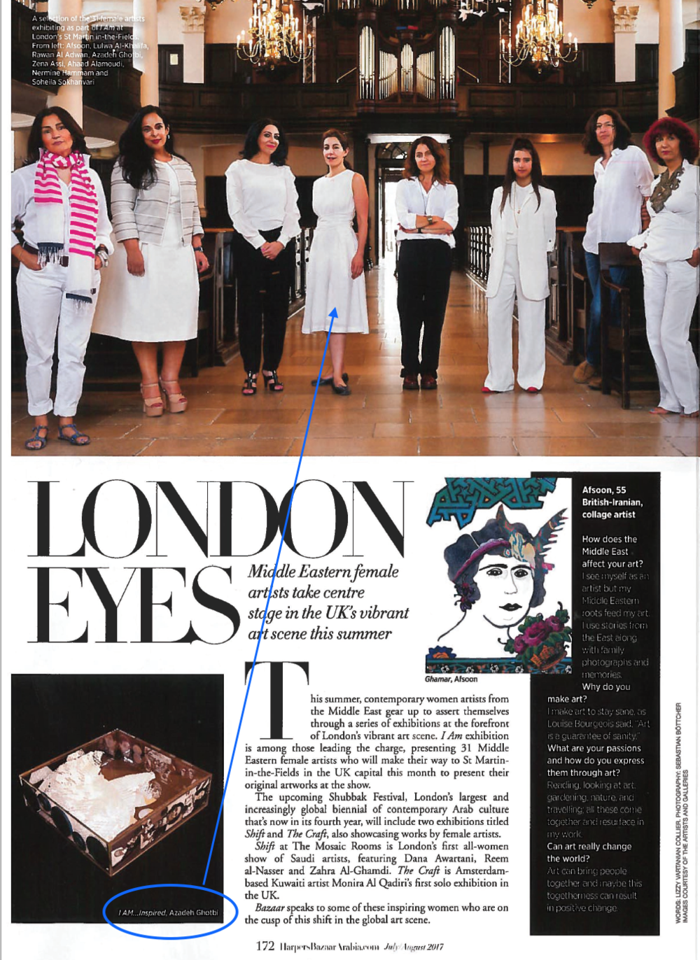Link to article:  http://www.harpersbazaararabia.com/art/exhibitions/female-artists-showing-in-london