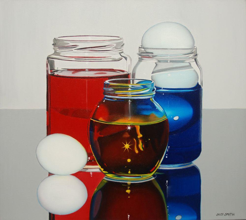 """Blue Eggs II"" 17""x19"" Oil $3,000"