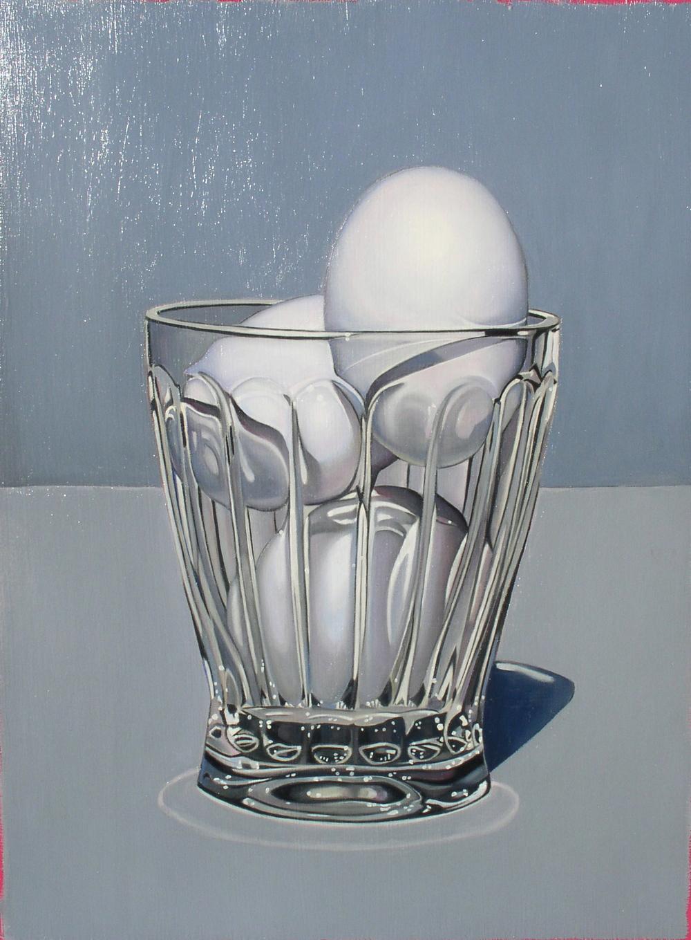 """Eggs In Glass"" 16""x12"" Oil $2,000"