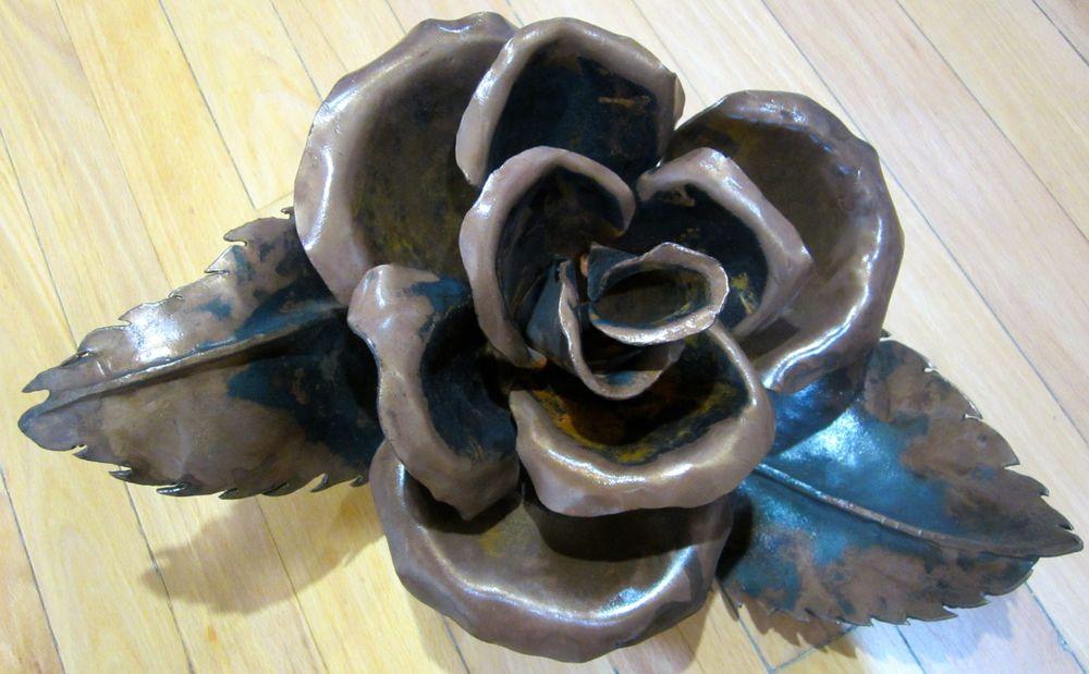 """""""Small Rose"""" 6 1/2""""x15"""" Metal $325"""