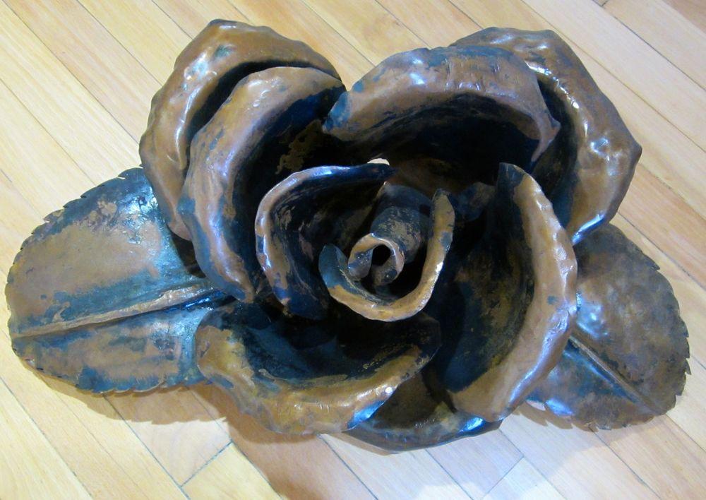 """""""Large Rose"""" 11""""x24"""" Metal $425"""