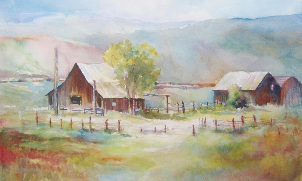 """""""Grandpa's Place"""" 31""""x33"""" Watercolor $599"""