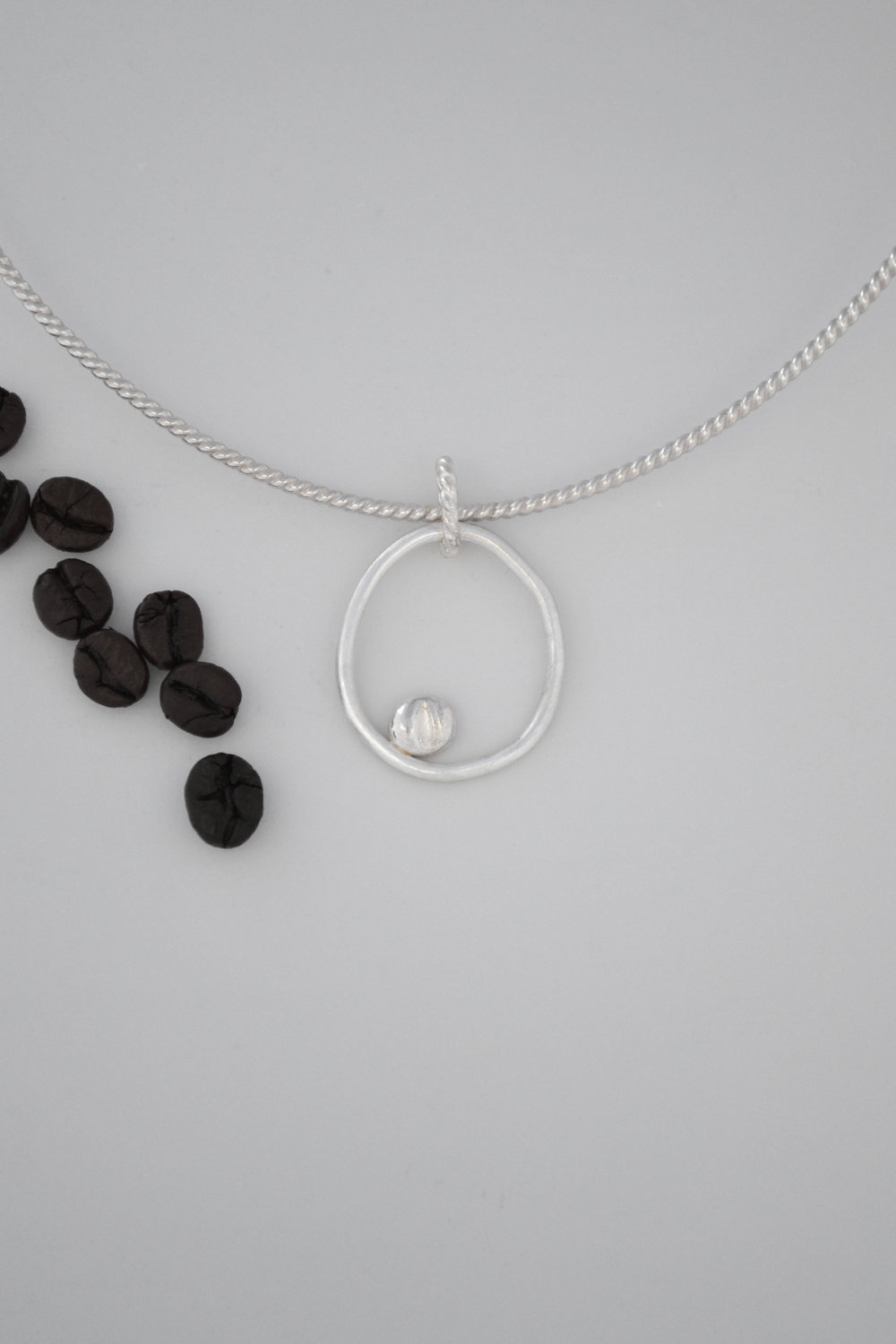 Silver Coffee Bean Pendant - lewdesigns.com.jpg