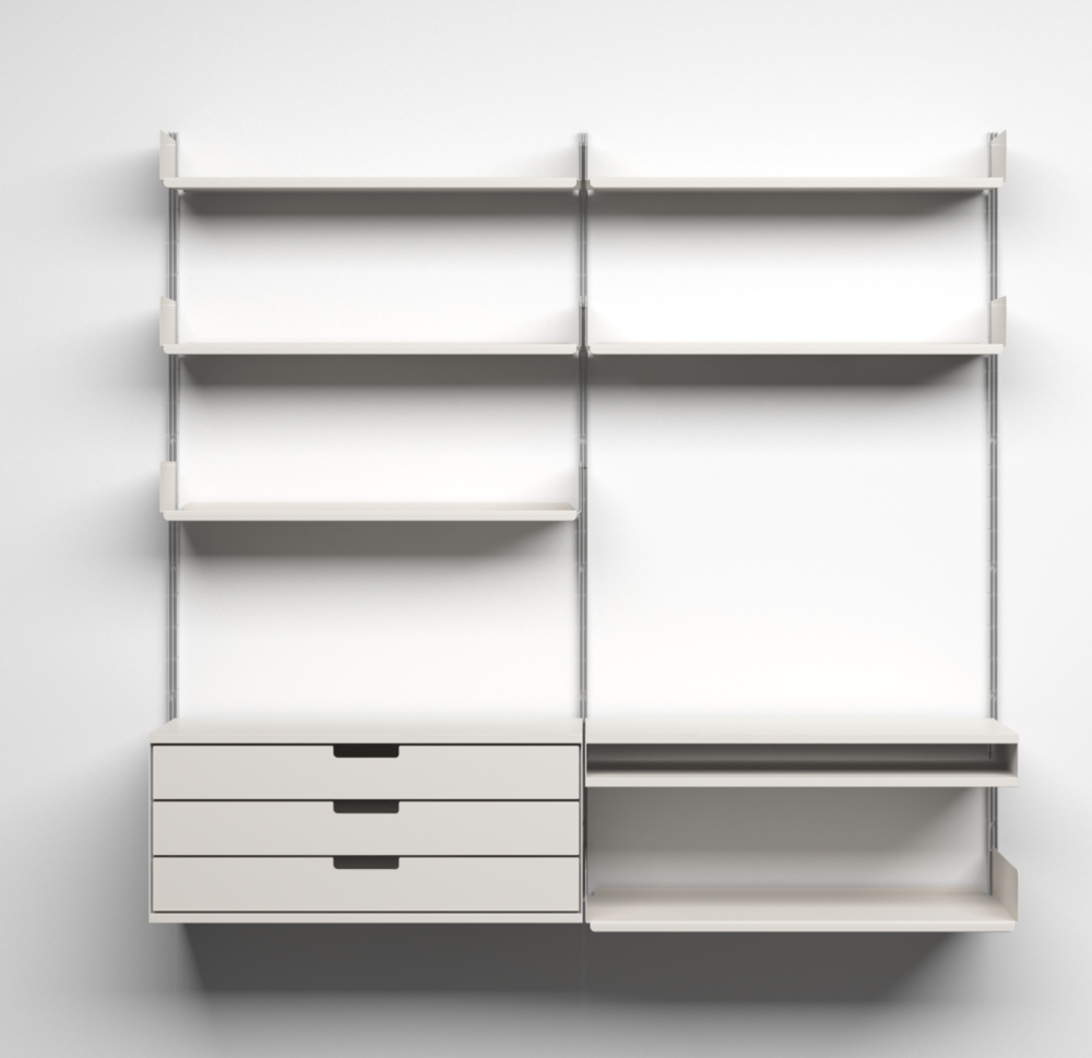 The 606 Universal Shelving System is flexible to your space and needs.