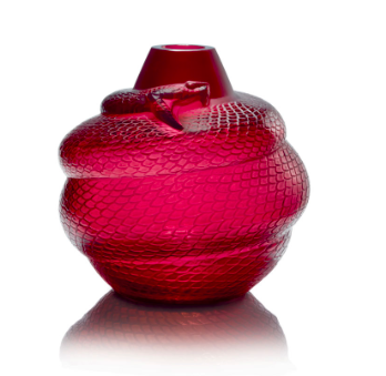 Jarrón Serpiente Lalique, diseñado por D´Avesn / Lalique Serpent Jar designed by D'Avesn