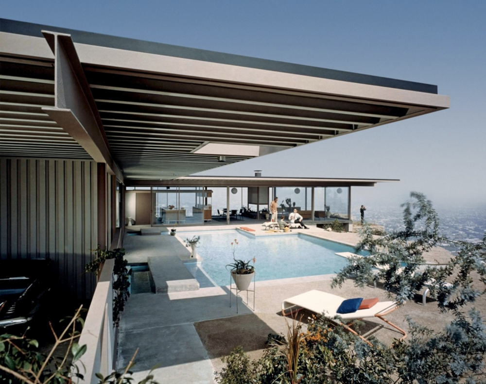 Case Study #22 house by Pierre Koenig in Los Angeles. Mid-Century Modern Architecture
