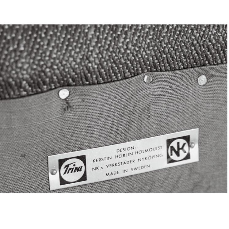 Kerstin Hörlin-Holmquist furniture signage for Triva NK, Sweden.