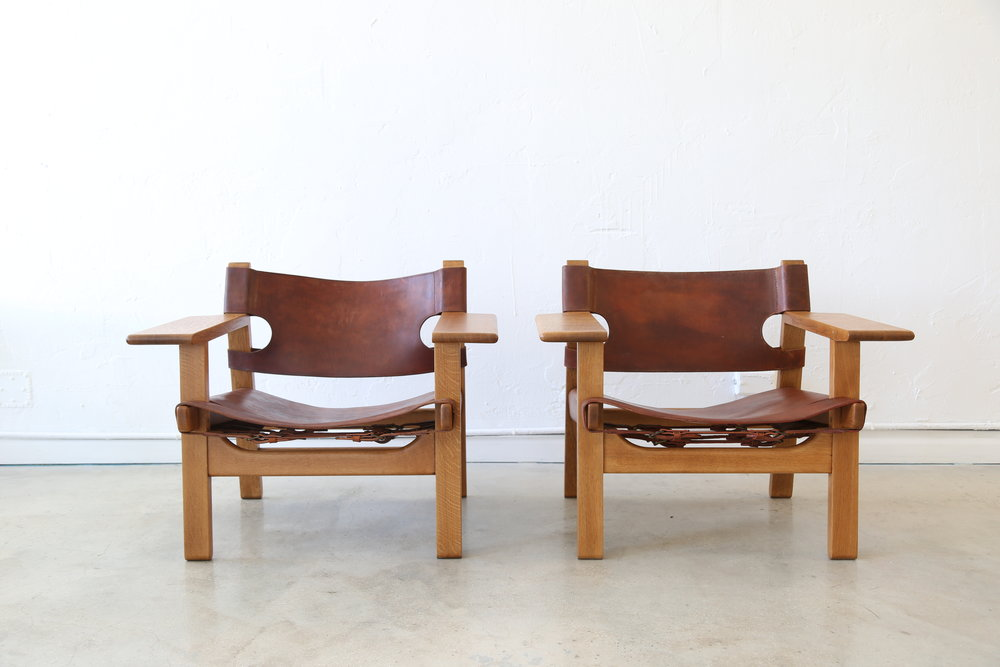 Spanish Chairs by Børge Mogensen, 1958