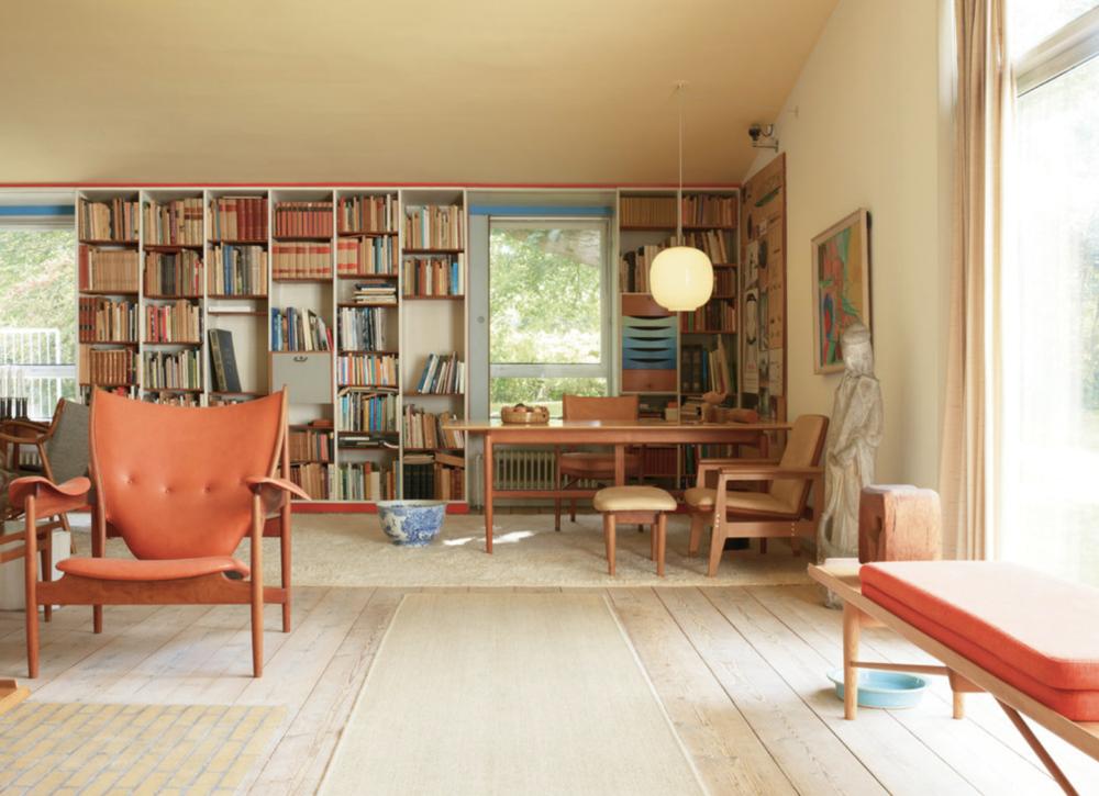 Finn Juhl's home in Copenhagen, photography by Leslie Williamson
