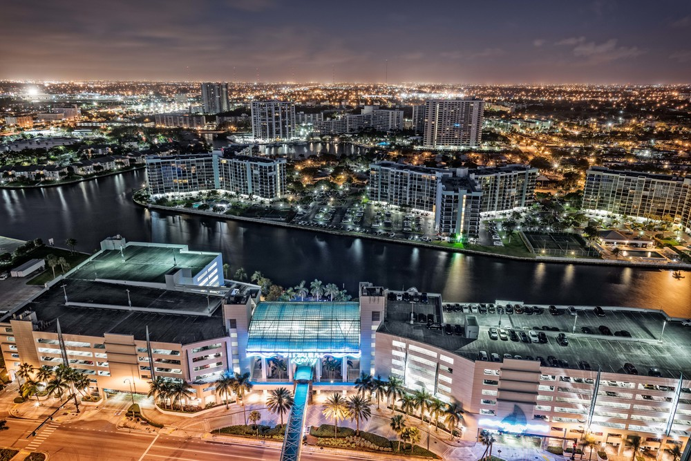 Twilight Shot of Miami, Florida