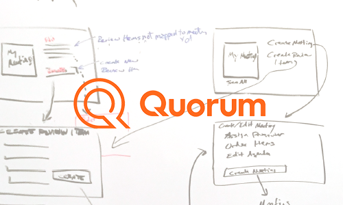 Quorum Internal Review Board App Lead UX/UI Designer, User testing