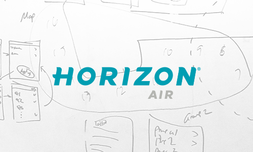 Horizon Air D-Zero iPad App Research, UX/UI design, User testing
