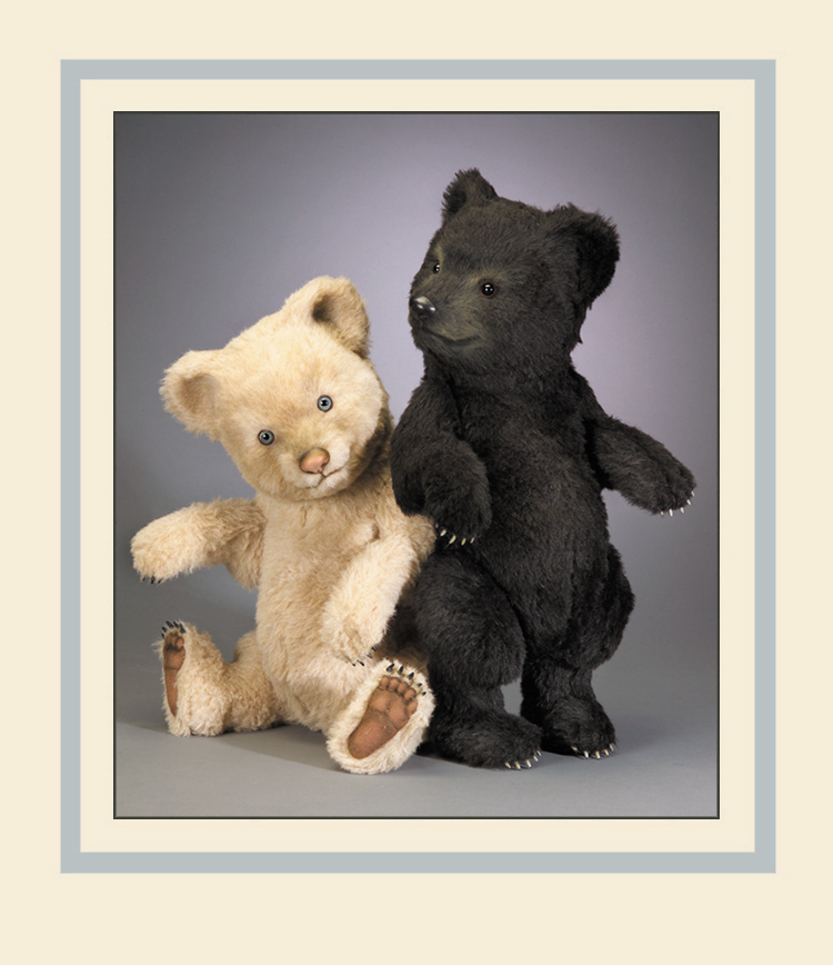 """Among the new releases on display in the R.John Wright Dolls booth at the New York International Toy Fair in 2005 were two impressively large (20"""") bears named """"Duncan"""" and """"Fiona."""""""