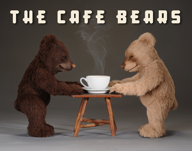 """The """"The Café Bears"""" were a pair of irresistible cubs made in 2010 exclusively for a RJW Retailer in the UK. Referencing their favorite coffee drink, the bears were named Café au Lait and Café Espresso."""