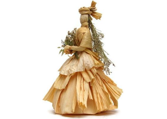 "Corn Husk Dolls ""The Bride"" by Vermont Dolls"