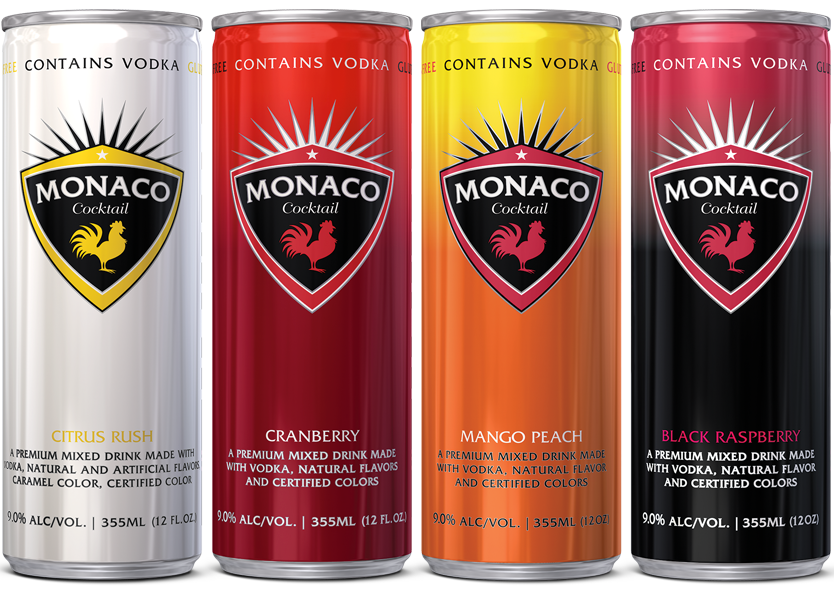 Monaco Cocktail - Citrus Rush, Cranberry, Mango Peach, Black Raspberry