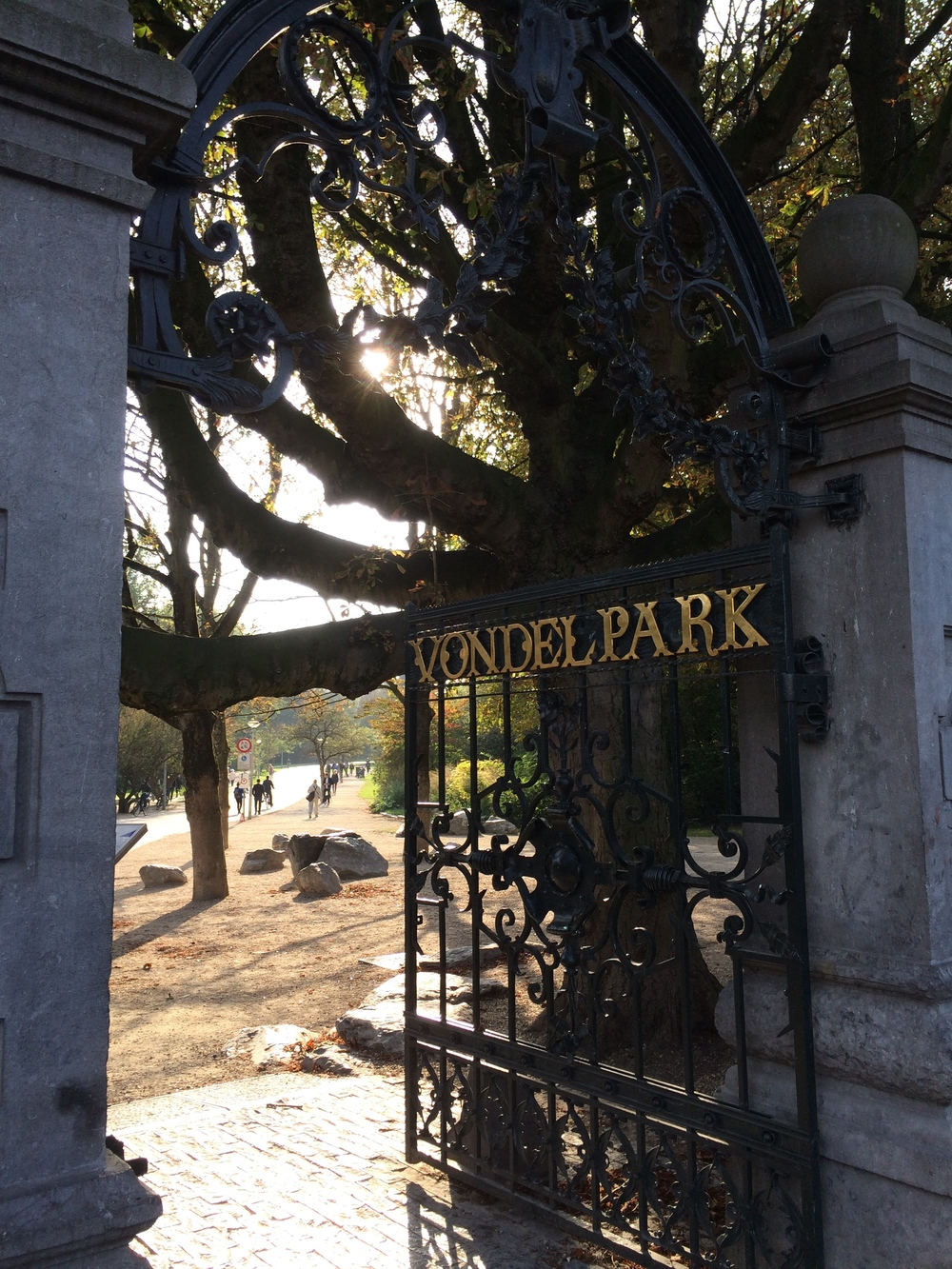 The gates of Vondelpark.