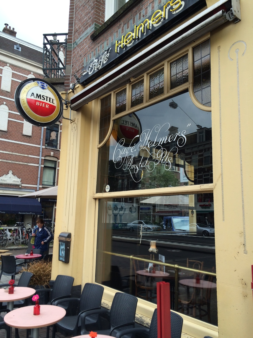 Who knew Topper Helmers had a cafe in Amsterdam?
