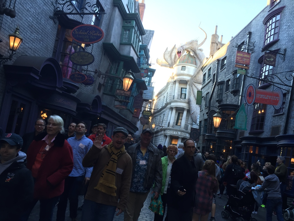TEA members explore Diagon Alley