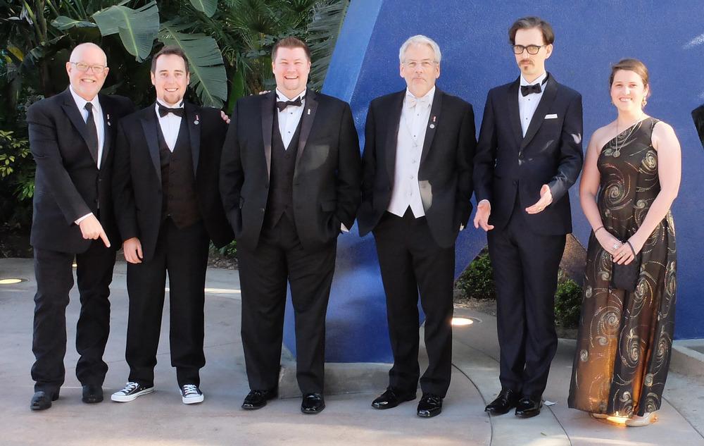 L to R: Darrias Baker, Mike Ross, Josh Updike, Jefferson Eliot, Stefan Lawrence & Diane Buchwalder. Note Mike's fresh Chuck Taylor's.