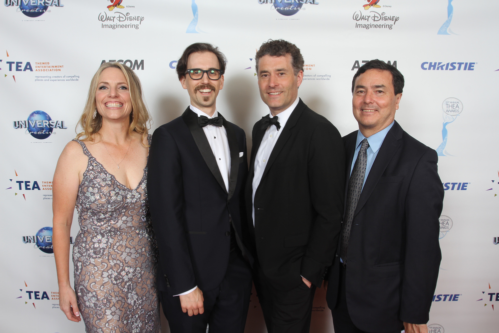 L to R: TEA COO Jennie Nevin, Stefan Lawrence, 20th Century Fox's Jonathan Casson and AECOM's Chris Yoshii. Photo: Gary Choppe