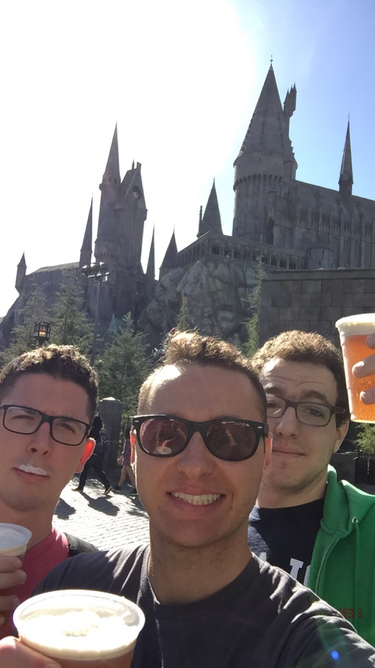 I've waited a long time to have Butterbeer underneath the California sun.
