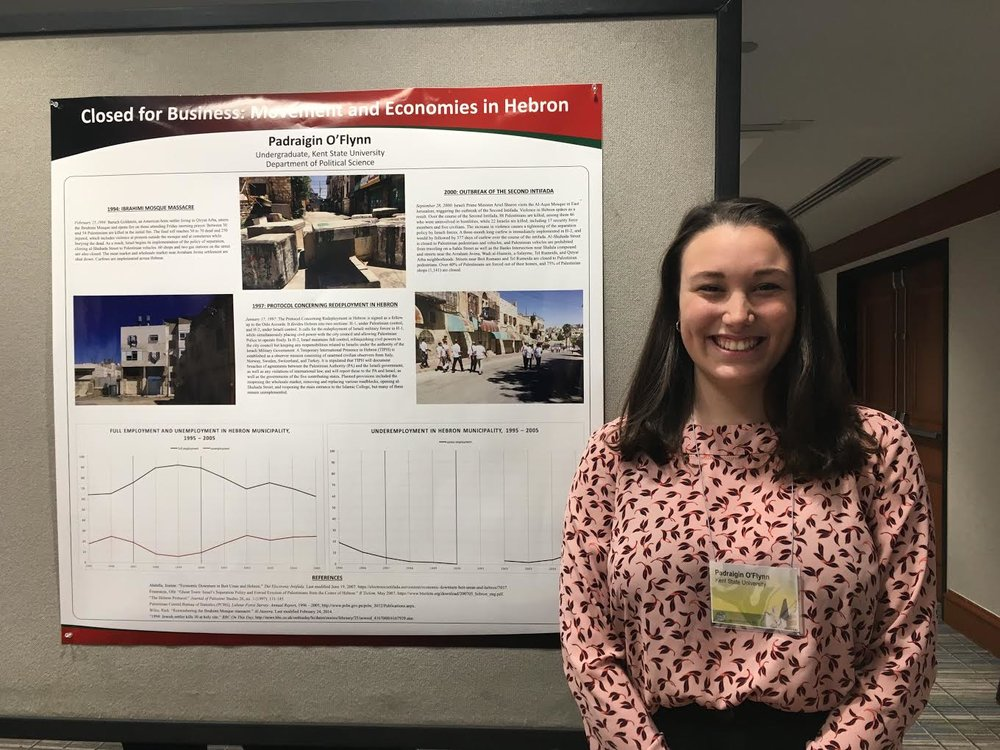 Padraigin O'Flynn '15  participated in the MESA: Middle East Studies Association NA's Undergraduate Research Workshop (URW).