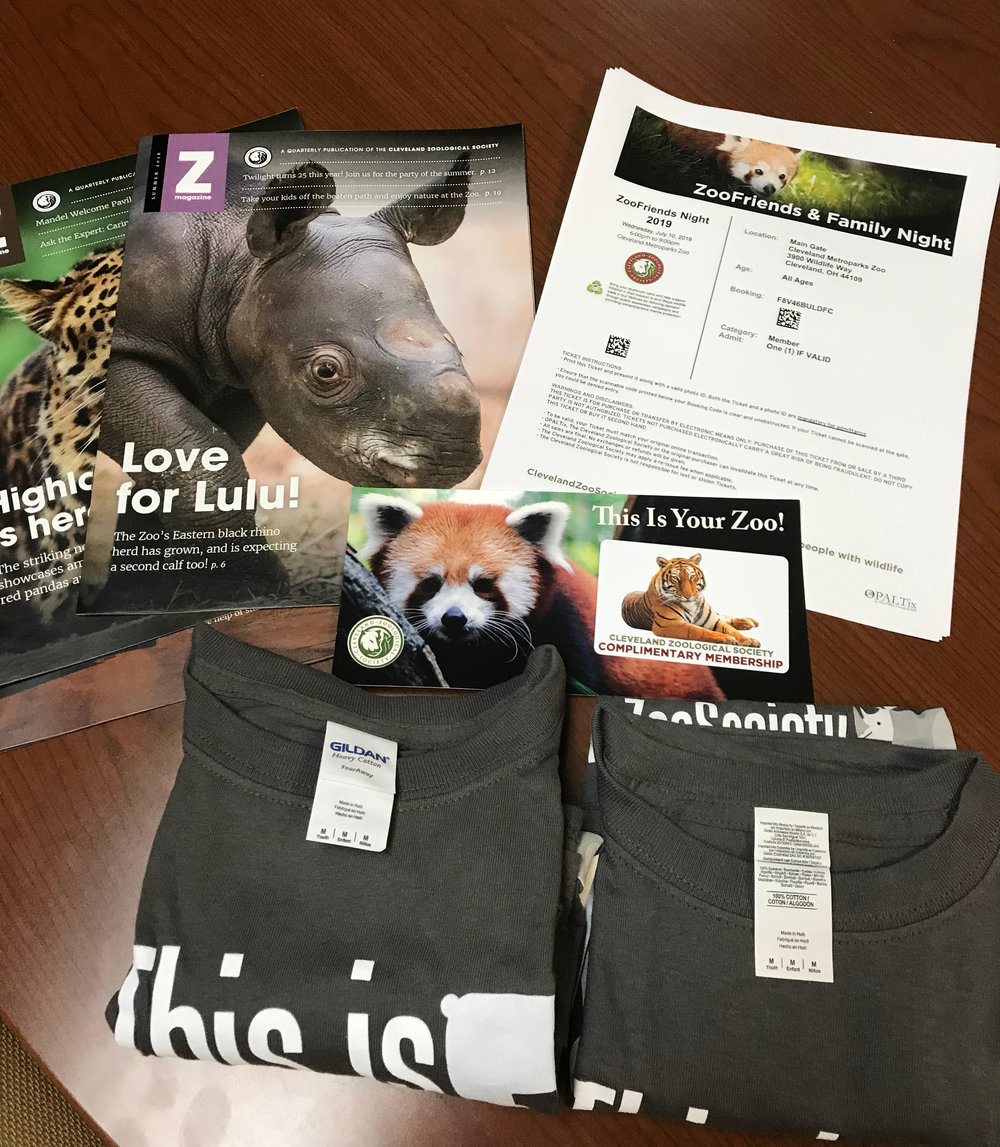 Enjoy a family membership to the Cleveland Metroparks Zoo plus six tickets to ZooFriends and Family Night on Wednesday, July 10. There's also a basket of cool zoo stuff.