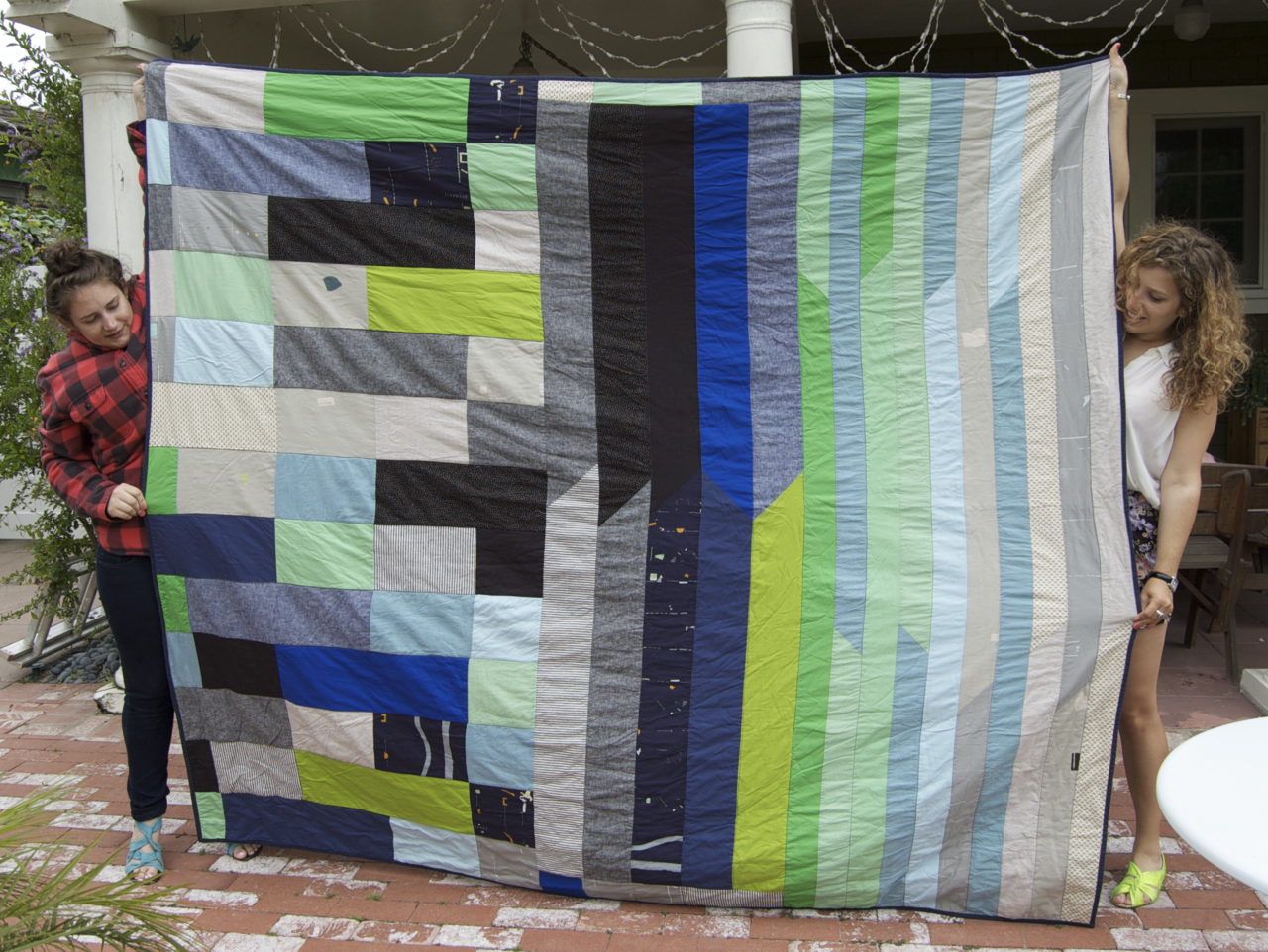 Bauhaus inspired quilt. Because we'll always have Berlin.