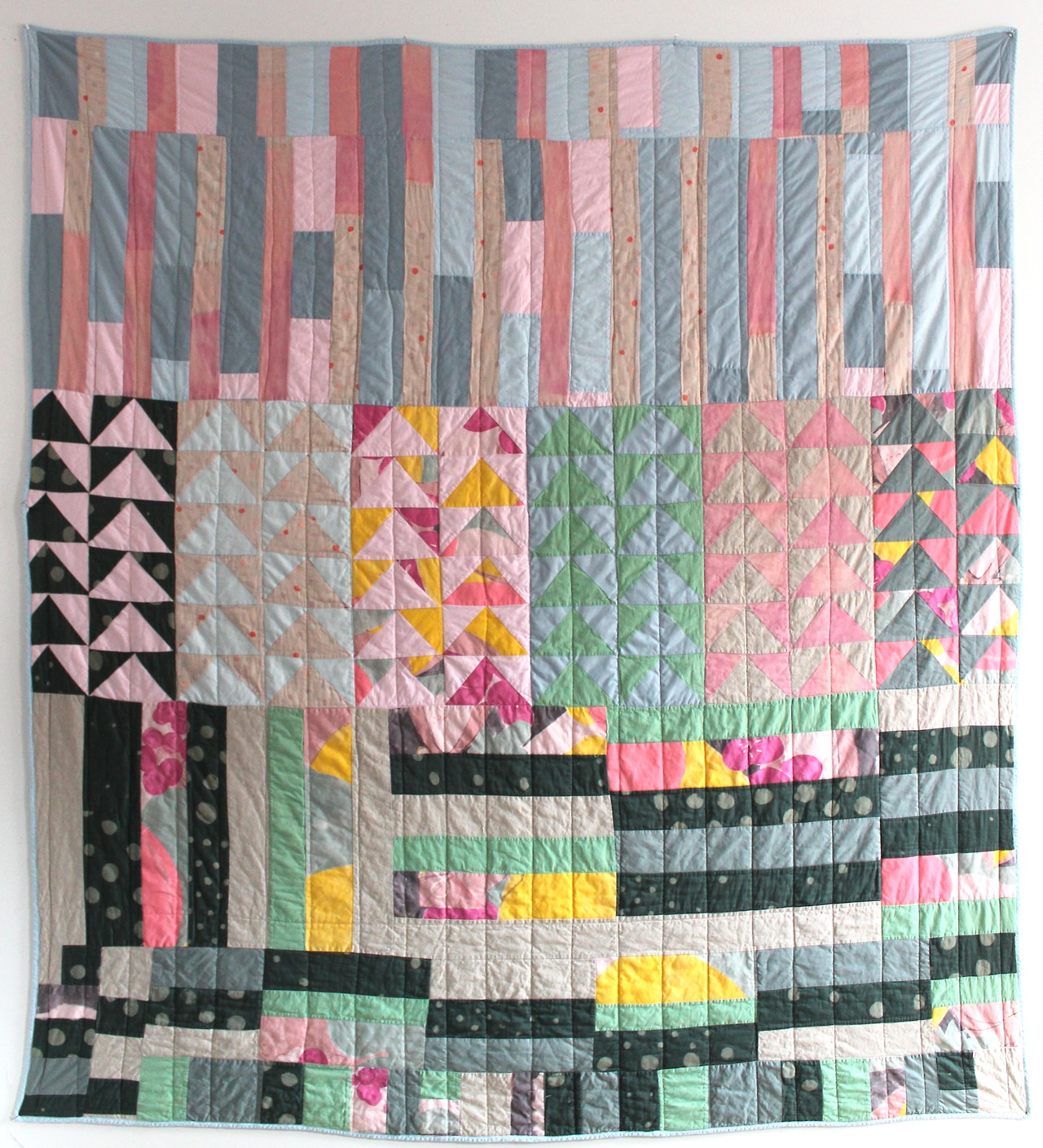 "Nani Iro fabric is a joy to work with! 97"" x 87"""
